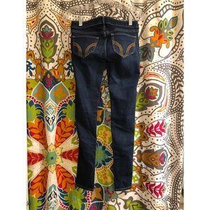 HOLLISTER blue orange stitch stretch skinny jeans